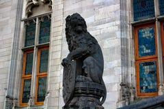 Lion à Bruges Photos libres de droits