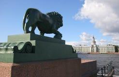 Lion. Sculpture of lion on   Admiralteyskaya embankment, Saint-Petersburg, Russia Stock Photography