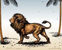 Lion. Additional  format Illustrator 8 eps Stock Images