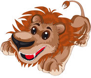 Lion. Vector illustration shows a happy lion royalty free illustration