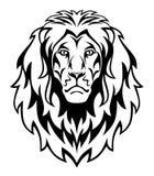 Lion. Head isolated on white stock illustration