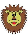 Lion. Illustration of a lions head Royalty Free Stock Photo