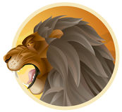 Lion. Might lion on a land background Stock Image