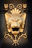 Lion. Details of a metallic lion Stock Photo