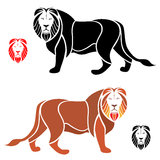 Lion. The male lion on a white background Royalty Free Stock Photo