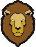 Lion. Illustration of al ion head Stock Photos