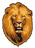 Lion. Vector illustration of hunting lion Royalty Free Stock Images