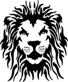 Lion. Illustration of head lion in tribal style Royalty Free Stock Photo