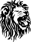 Lion. Illustration of head lion in tribal style Stock Photo