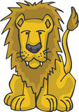 Lion. Yellow Lion including vector art Stock Photography