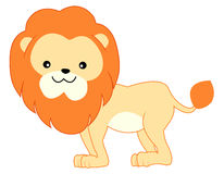 Lion. An illustration of a cute little lion isolated on white background Stock Images