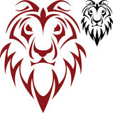 Lion. The vector sketch of a tattoo of a head of a lion Royalty Free Stock Images