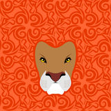 Lion Abstract-embleem Mane Oriental-ornament Wild Dier Royalty-vrije Stock Foto's