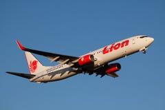 Lion Air i flykten Fotografering för Bildbyråer