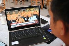 Lion Air JT 610 Fälle in Indonesien stockfotografie