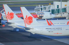 Lion Air Planes royalty-vrije stock foto's