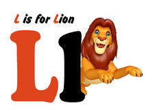 Lion  with alphabet Royalty Free Stock Photo