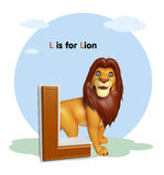 Lion  with alphabet Stock Photos