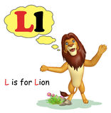 Lion  with alphabet Stock Images