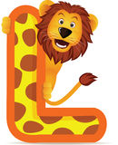 Lion with Alphabet L Stock Photography