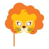 Lion Animal Carnival Mask Re della bestia arancio Fotografie Stock Libere da Diritti