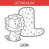 Lion animal de chasse à lettre Image stock