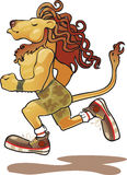 Lion athlete. Runner lion-athlete metro sexual Stock Image