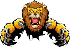 Lion Attack Concept Photo stock