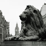 Lion au grand dos de Trafalgar Photographie stock