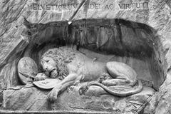 Lion av Lucerne Arkivfoto