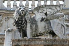 Lion avec des ailes Photos libres de droits