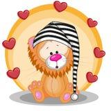 Lion avec des coeurs Photos stock