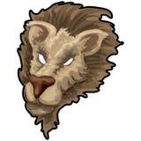 Lion avec le chemin de découpage Image libre de droits