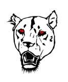 Lion avec les yeux rouges Illustration de Vecteur