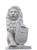 Lion avec Sheild Photographie stock