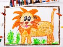 Lion avec une grande crinière Image libre de droits