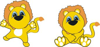 Lion baby cartoon Royalty Free Stock Image