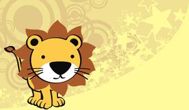 Lion baby cute cartoon background Stock Images