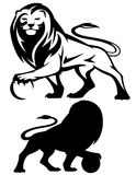 Lion with ball vector Stock Photography