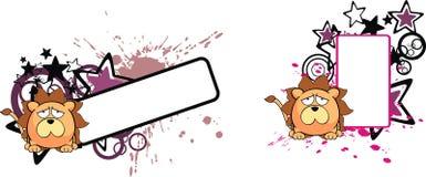 Lion ball baby cartoon copyspace4 Stock Photography