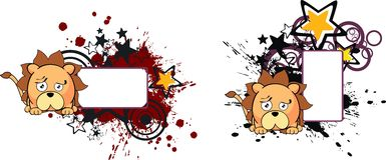 Lion ball baby cartoon copyspace5 Royalty Free Stock Photos