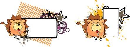 Lion ball baby cartoon copyspace6 Royalty Free Stock Image