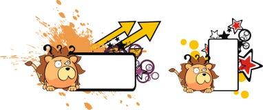 Lion ball baby cartoon copyspace8 Stock Photo
