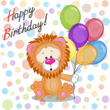 Lion with balloons Royalty Free Stock Photo
