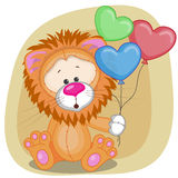 Lion with balloons Royalty Free Stock Photos