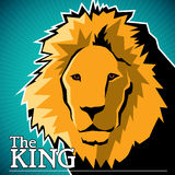 Lion banner. Designed artistic banner with lion Stock Photos