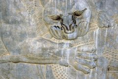 Lion - Bas-relief on the wall, Iran Royalty Free Stock Photo