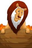 Lion basket oranges character cartoon style  illustration Royalty Free Stock Photo