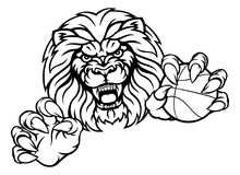 Lion Basketball Ball Sports Mascot Illustration Libre de Droits