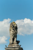 Lion bavarois, la sentinelle du port de Lindau Photographie stock libre de droits